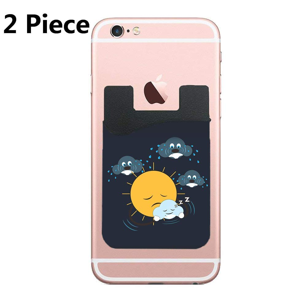 CardlyPhCardH Baby Sitter Adhesive Silicone Cell Phone Wallet/Card Holder for iPhone, Android, Samsung Galaxy, Most Smartphones - 2 Piece