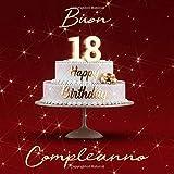 Buon Compleanno: 18 Anni - Libro degli ospiti con 110 Pagine Edizione Rossa