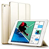 #5: New iPad 2017 iPad 9.7 inch Case, ESR Ultra Slim Lightweight Smart Case Trifold Stand with Auto Sleep/Wake Function, Microfiber Lining, Hard Back Cover for Apple New iPad 9.7-inch,Champagne Gold