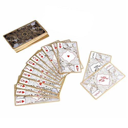 Zeroyoyo透明クリスタルゴールド箔エッジプラスチックポーカーカード防水ゲームパーティーおもちゃPlaying Cards