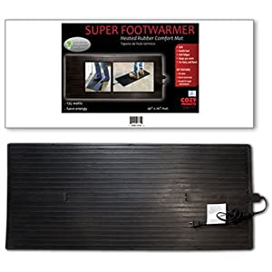 Cozy Products FWB Super Foot Warmer Heated Foot Warming Mat Rubber Design Extra Large