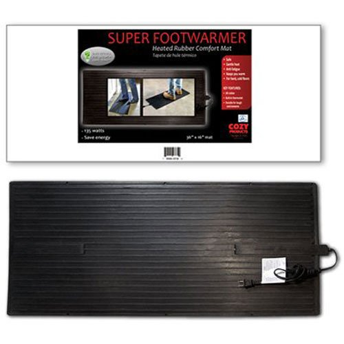 per Foot Warmer Heated Foot Warming Mat Rubber Design Extra Large ()