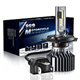 H4/9003 LED Motorcycle Headlight bulbs- SEALIGHT Hi/Lo Beam Replacement Conversion Kit Headlamp Single Bulb 6000LM 12V HID White 6000K