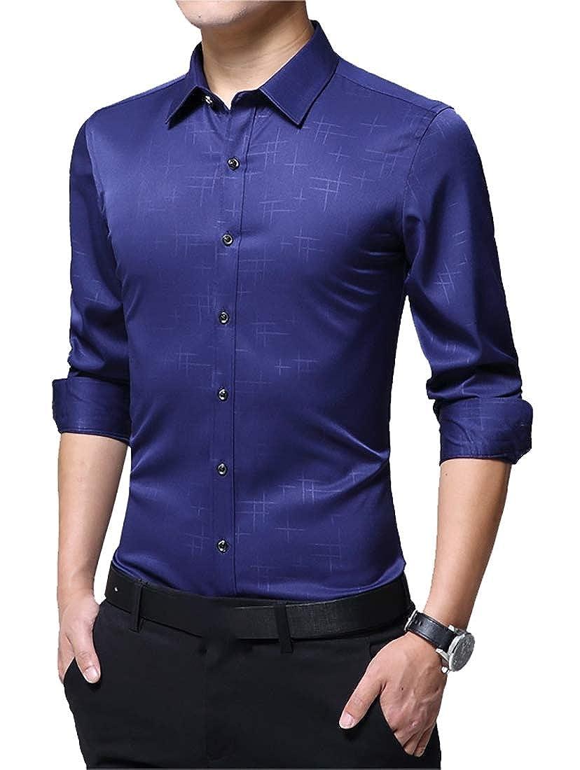 Men Basic Long Sleeve Dress Shirts Cotton Shirts Designed Breathable