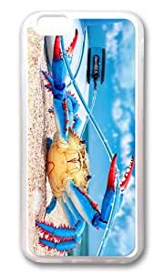 MOKSHOP Adorable colorful crab Soft Case Protective Shell Cell Phone Cover For Apple Iphone 6 (4.7 Inch) - TPU Transparent