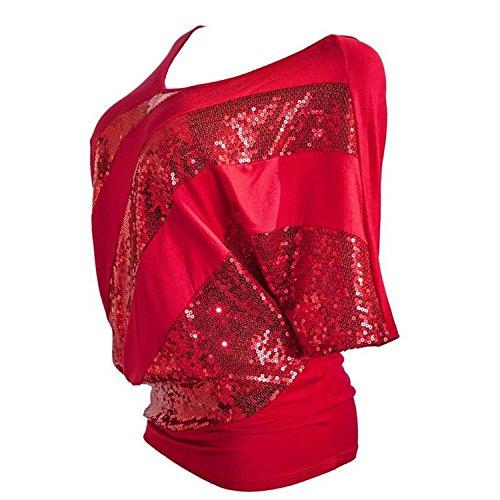T Paillette JLTPH Top Shirt Femme vURqR