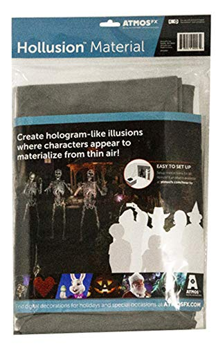 Halloween Fx Dvd (AtmosFX Hollusion Projection Material, Grey, 5.5 x 9)