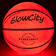 GlowCity Glow in The Dark Basketball - Light Up, Indoor or Outdoor Basketballs for Kids, Teens and Adults with