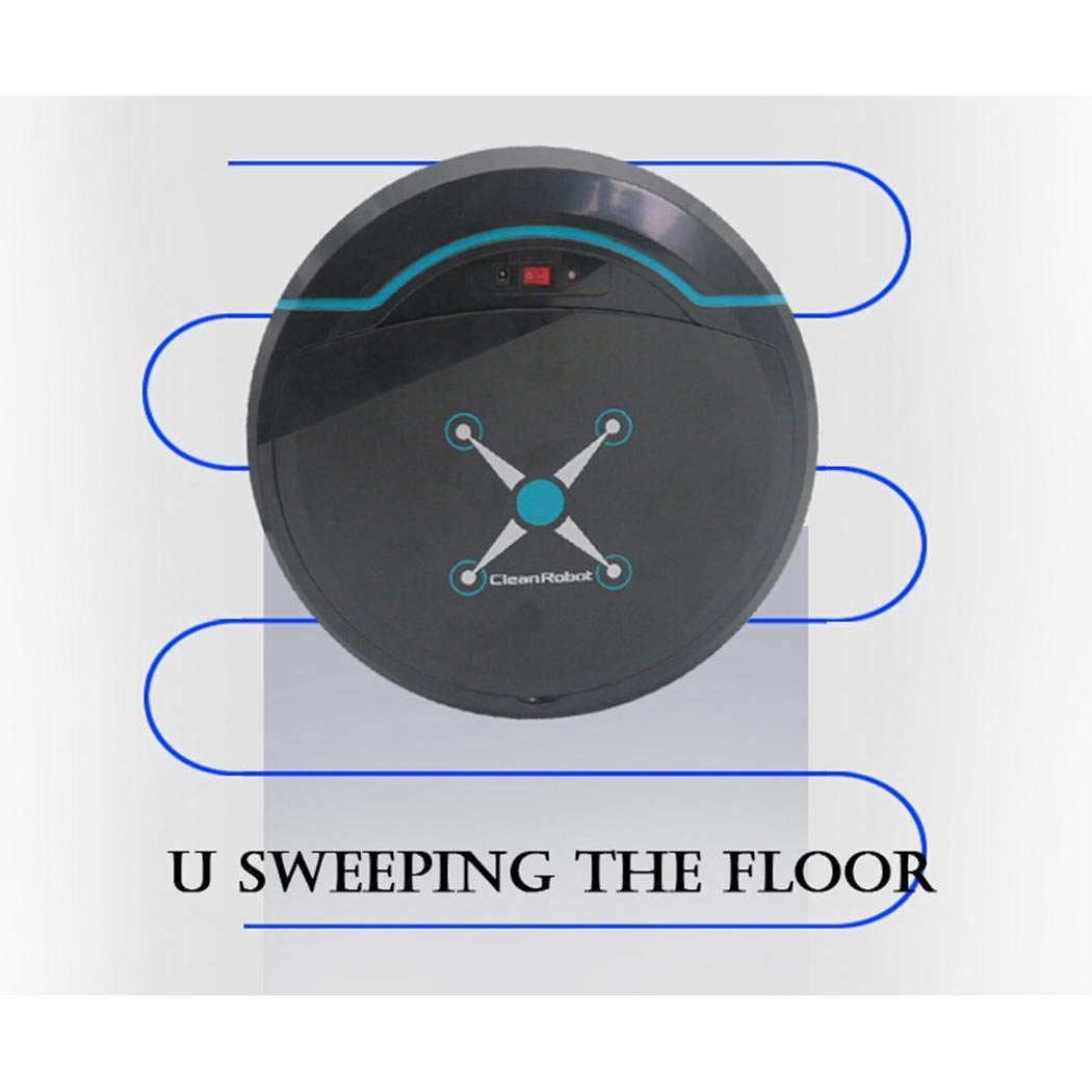 Upgraded Clean Smart Mini Automatic Induction Sweeping Robot Floor Cleaning Sweeping Robot Dust Catcher - Rechargeable Type (Type-1, White)