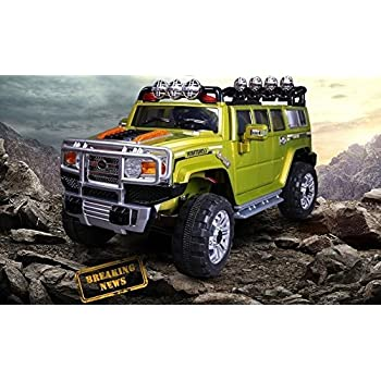 Hummer Style LARGE SIZE MONSTER TRACK Green JJ255A Ride-on Car for Kids 2-5 years old with Remote Control