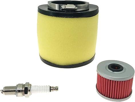ZZOY 3 Pack Motorcycle Oil Filters for Honda TRX450FE FOREMAN ES 450 2004//Honda TRX350D FOREMAN 4X4 350 1987-1989