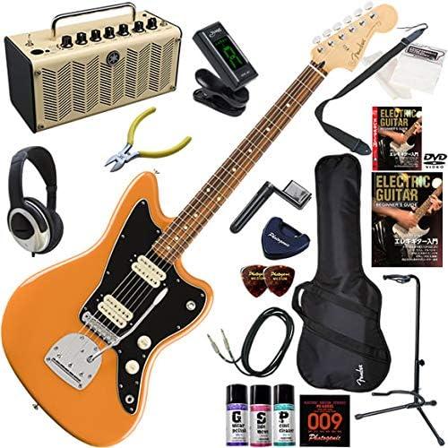FENDER エレキギター 初心者 入門 メキシコ製 ファットなサウンドを聴かせるジャズマスター。 レトロなデザインで多機能・高音質のYAMAHA THR5が入ってる大人の19点セット Player Jazzmaster/CPO(カプリオレンジ)