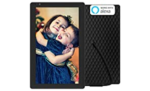 Nixplay Seed 10.1 Inch Digital WiFi Picture Frame with IPS Display, iPhone & Android App, Free 10GB Online Storage and Motion Sensor (Black) - W10B