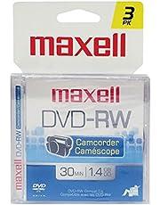 Maxell 567655 3PK DVDRW 1.4GB Camcorder DISC