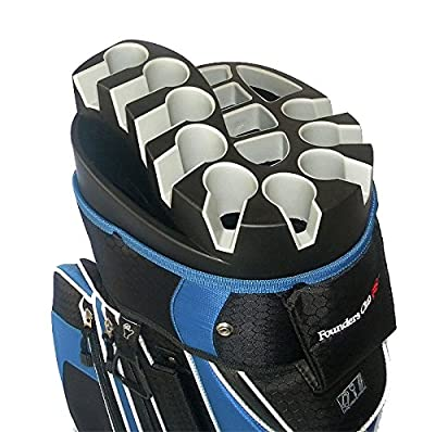 Founders Club Premium Cart Bag with 14 Way Organizer Divider Top from Founders Club