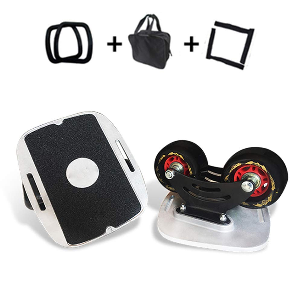 GXFC Portable Roller Road Drift Skates Plate with Alloy Pedal, Anti-Slip Board Split Skateboard with PU Wheels abec-11High-end Bearings Additional Handbag and Two Bandages and Edge Protector