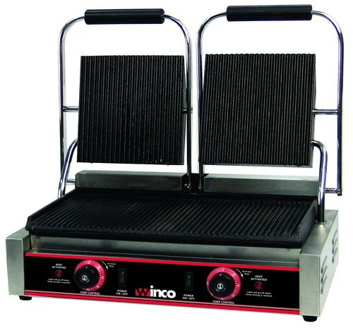 Double Grill Electric - Winco EPG-2 Italian Style Panini Grill, electric, countertop double