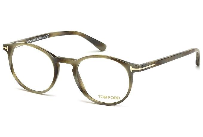 854aca193950 Tom Ford FT 5294 064 48mm Green Horn Eyeglasses  Amazon.ca  Clothing ...