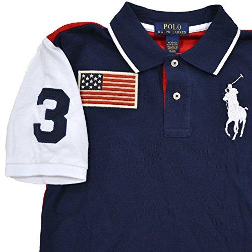 d120f7bcd229 Amazon.com  Polo Ralph Lauren Boys Big Pony USA Flag Polo (XL