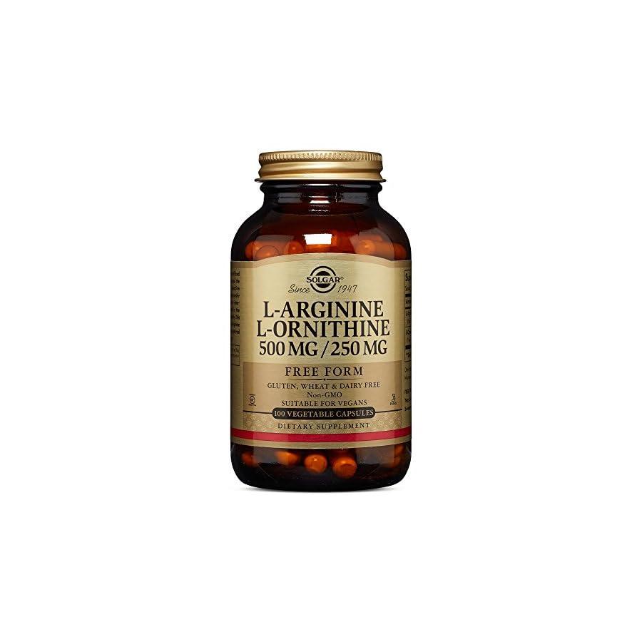 Solgar – L Arginine/L Ornithine 500/250 mg, 100 Vegetable Capsules