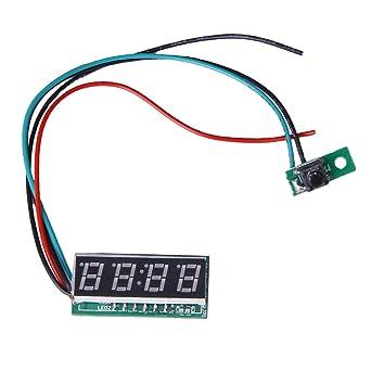 Generic - Reloj digital para moto o coche (formato 24 H, 16 mm,