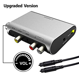 Avantree DAC Digital to Analog Audio Converter Box Adapter with Toslink Optical Cable Volume Control TV SPDIF Optical / Coaxial Input Headphone / Speaker ...  sc 1 st  Amazon.com & Amazon.com: Avantree DAC Digital to Analog Audio Converter Box ... Aboutintivar.Com