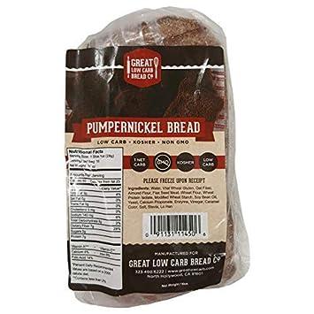 Pumpernickel Bread, gran empresa de pan de carba baja, Keto ...