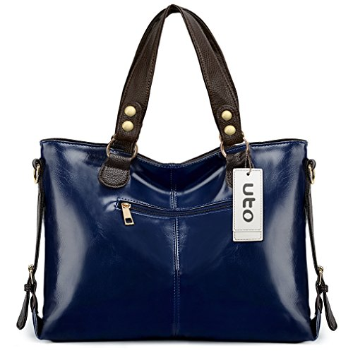 UTO mochila para laptop Oxford impermeable tela Nylon Unisex mochila escuela de la universidad Bookbag bolsa de viaje bolsa de hombro Azul