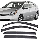 Automotive : Window Visors Fits 2004-2009 Toyota Prius | Dark Smoke Car Rain Sun Window Shade Guard Wind Deflector by IKON MOTORSPORTS | 2005 2006 2007 2008