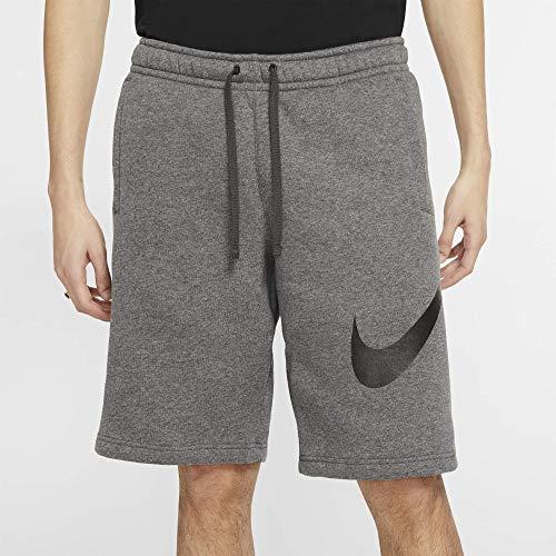 Nike Men's Sportwear Club Shorts, Charcoal Heather/Black, Large