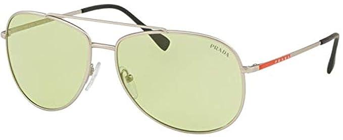 Prada Linea Rossa QFP348 Gafas de sol, Silver Rubber, 61 ...