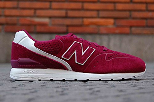New Balance Herren 996 Leather Sneaker bordeaux / weiß