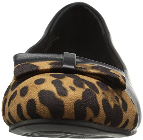 Annie Zapatos Mujeres Eastly Flat Black / Leopard
