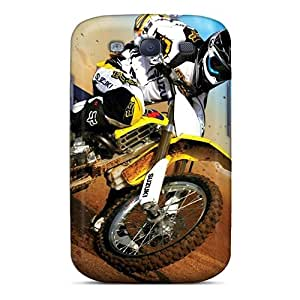 Samsung Galaxy S3 ITa8620jOmd Customized Realistic Motocross Pattern Protector Hard Phone Case -DrawsBriscoe