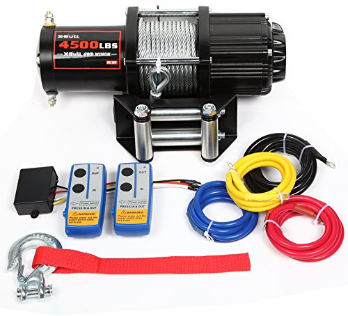 X-BULL 12V 4500LBS Recovery ATV/UTV Winch Kits Wireless Remote ()