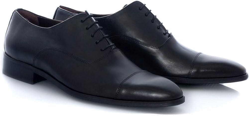 TALLA 46 EU. Zapatos de Vestir de Hombre Marca Zeddea - Calzado cómodo y Elegante- Fabricado en Piel- Color Negro