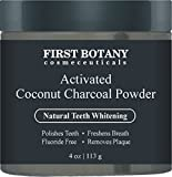 #9: 100 % Natural Activated Coconut Charcoal Powder 4 oz for All Natural Teeth Whitening with Bentonite Clay- Professional Fluoride Free Teeth Whitening that Polishes Teeth & Freshens Breath