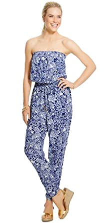 c7c3af16efc Amazon.com  Lilly Pulitzer for Target Women s Strapless Jumpsuit XX ...