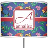 RNK Shops Parrots & Toucans 13'' Drum Lamp Shade Linen (Personalized)