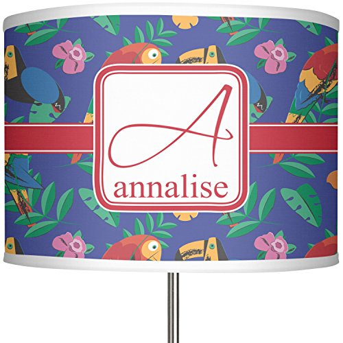 RNK Shops Parrots & Toucans 13'' Drum Lamp Shade Linen (Personalized) by RNK Shops