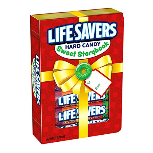 LIFE SAVERS 5 Flavors Sweet Storybook Gift Box, 1.14-Ounce Roll (6 Rolls of Candies) (Fun Size Life Savers)