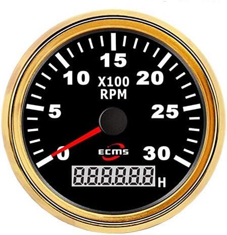 "BXU-BG エンジン、船舶、修正車のインパネディーゼルガソリンエンジンタコメータ85ミリメートル3 3/8"" ユニバーサルオートバイタコメータRPMメーター3000RPM"
