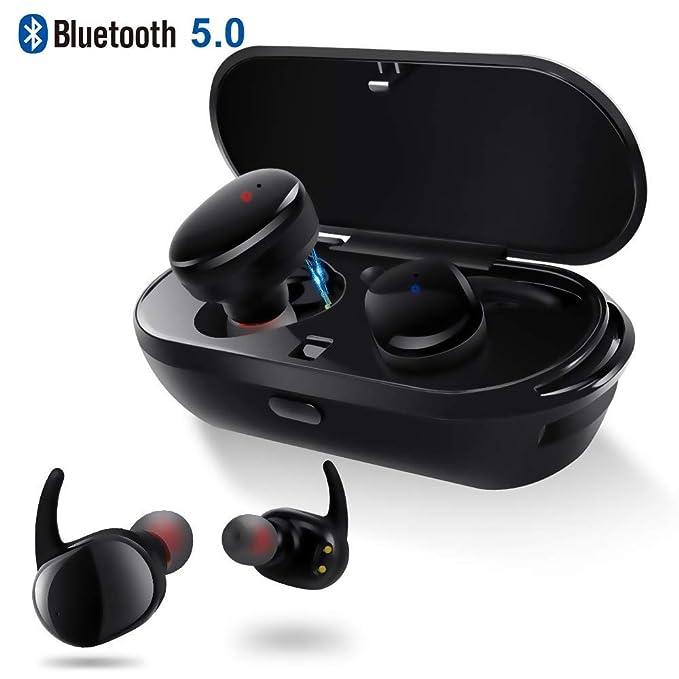 Auriculares Inalámbricos XIAOWU In Ear, Bluetooth 5.0, Reproducción 4H, Sonido Bajo HD, Auriculares con Micrófono, Llamada Binaural, ...