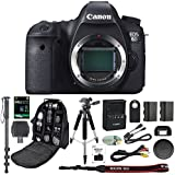 Canon EOS 6D Digital SLR Camera With Wifi Body Only + 64GB SDXC Card + Deluxe Tripod + Pro Monopod + SLR Backpack + Spare LP-E6 Battery + Remote Control + SD Reader & More - International Version