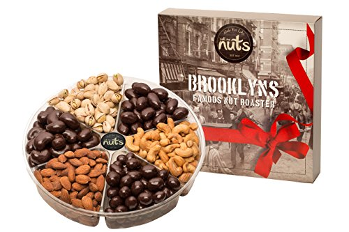 - Call Me Nuts- Gourmet Gift Nut Tray (2 lb) Delicious, Kosher -Salted Cashews, Salted Almonds, Salted Pistachios, Chocolate Cashews, Chocolate Almonds, Chocolate Peanuts Great for All Holidays