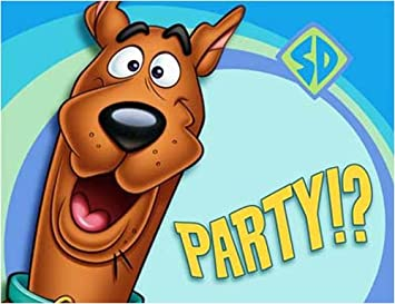 Party Express Scooby Doo Party Invitations 8 Pack Amazoncouk
