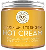 Max Strength Hot Cream - Natural Muscle Pain Relief Cream for Sore Muscles, Arthritis Pain, Sports Injuries, Chronic Pain, and Inflammation - Capsaicin Cream for Soreness, 8.8 oz, Pure Body Naturals