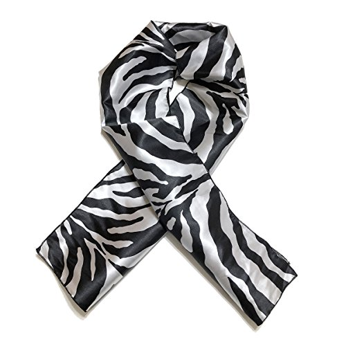 Striped Edge - Black and Grey Tiger Striped Edge Laying Rectangular Satin Scarf | Protect Edges While You Sleep by Natural Hair Shop