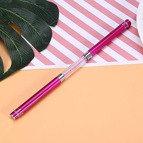 - Eyelash Eyebrow Mascara Brush Double Ended Nail Brushes Eyelash Extension Eyebrow Comb 2 Colors (Rose Red)