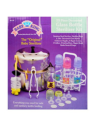 (Baby King 25-Piece Glass Bottle Sterilizer Kit - multi, one size)